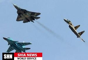 بمب افکن های روسیه و ترکیه مواضع داعش را در حلب هدف گرفتند