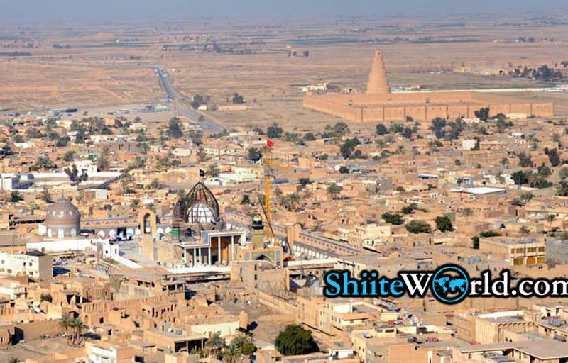 جدیدترین تصویر هوایی از بارگاه ملکوتی عسکریین(ع)