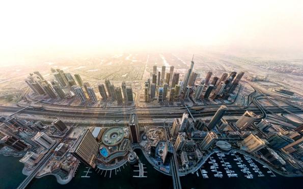 ع  پسر عکس هوایی از دبی