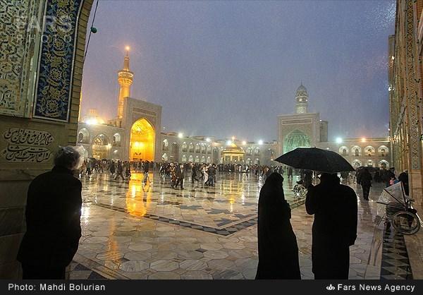 عکس روز برفی مشهد