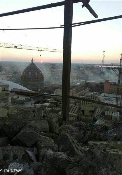 حمله خمپاره ای تروریستها به سامراء + تصاویر