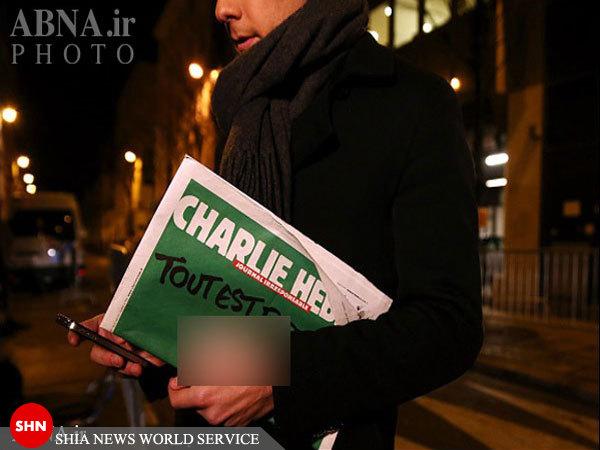 اهانت مجدد شارلی ابدو  به ساحت پیامبر+ تصاویر