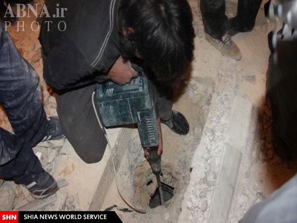 نبش قبرعالم دینی حلب توسط تروریستها + تصاویر