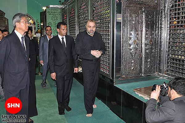 سفير كره: در حرم امام حسين(علیه السلام) آرامش يافتم+تصاوير