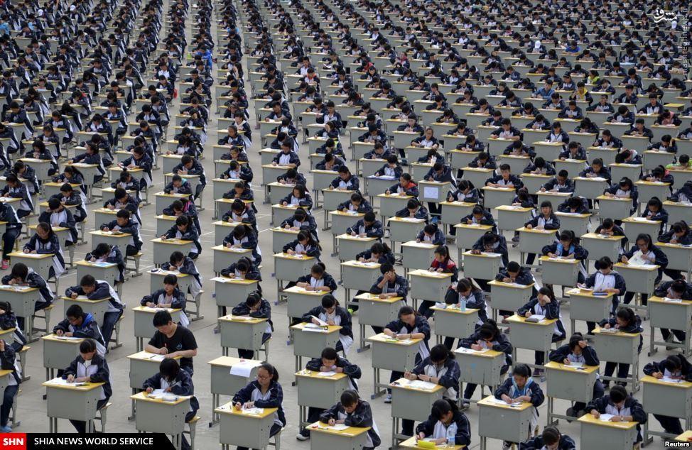 تصویر/ نظم چینی در امتحان مدارس