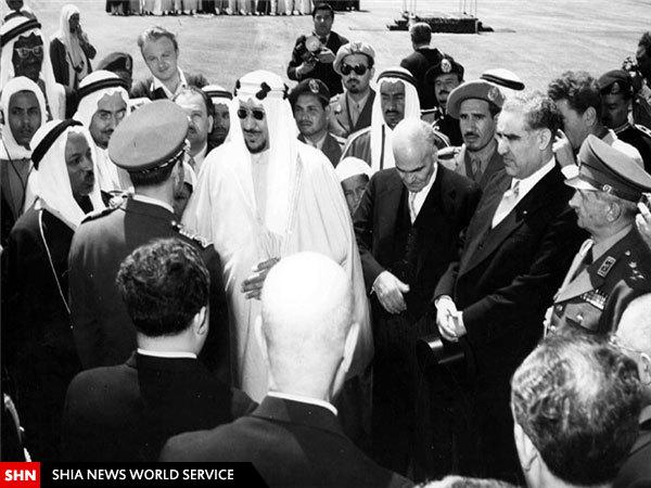 عکس دیدارهای محمدرضا پهلوی از عربستان سعودی