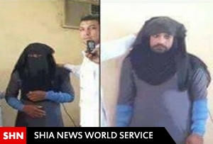 تصویر/بازداشت یکی از سرکردگان بارز داعش با لباس زنانه