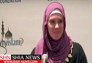حجاب دختر آمریکایی را به اسلام مشرف کرد