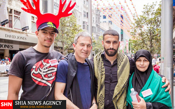 تصاویر اقدام جالب جوانان مسلمان شیعه در استرالیا