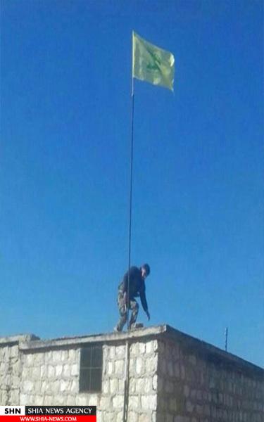 پرچم حزب الله در داخل شهرک الزهرا + تصویر
