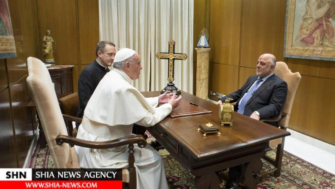 نخست وزیر عراق با پاپ دیدار کرد