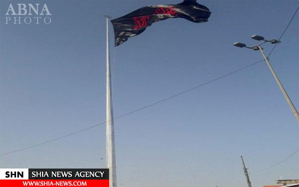 اهتزاز بزرگترین پرچم حضرت زهرا (س) در نجف + تصویر