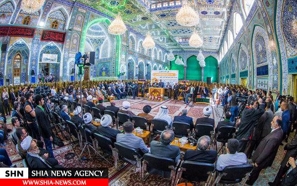 رونمایی از ضریح جدید حبیب بن مظاهر با حضور نماینده آیت الله سیستانی+ تصاویر