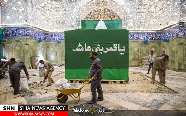 تصاویر کم نظیر از مراحل تغییر ضریح مطهر حضرت عباس (ع)
