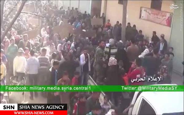 تظاهرات شیعیان فوعه در اعتراض به محاصره + فیلم و تصاویر