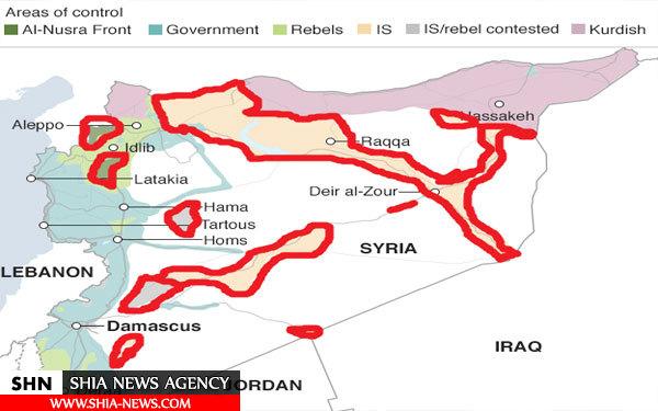 چه مناطقی در سوریه مشمول آتش بس میشود؟ + نقشه