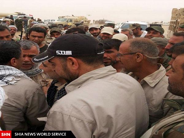 قاسم سلیمانی در خط مقدم عملیات الانبار+ تصاویر
