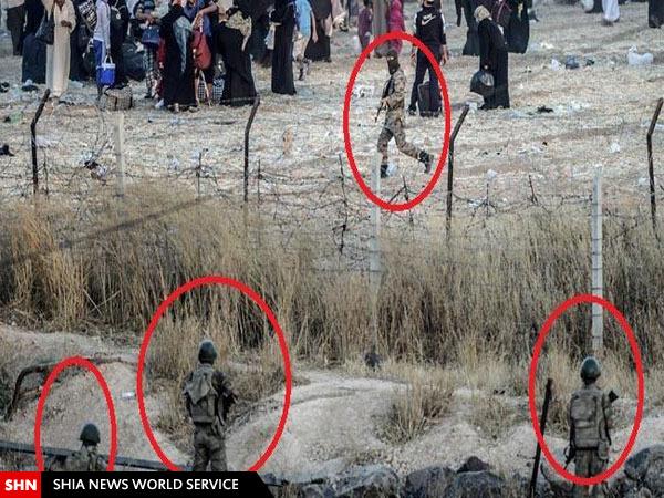 تصاویری از فعالیت داعش در چند قدمی نظامیان ترکیه