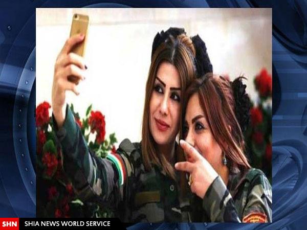 سلفی دختران پیشمرگه قبل از نبرد با داعش