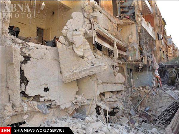 تصاویری از حمله خمپاره ای گروه های تروریستی به شهر «حلب» سوریه