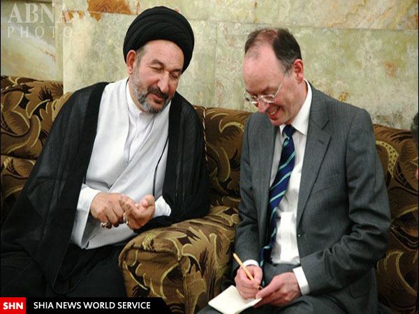 شگفتی سفیر آلمان از حضور در حرم امام علی +تصاویر