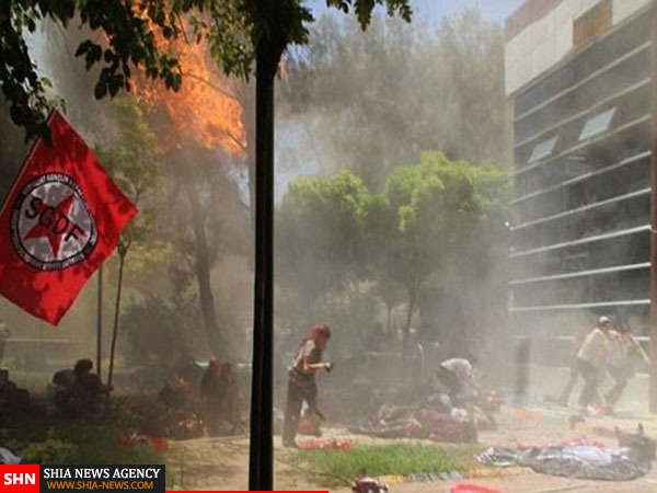 تصاویر دیده نشده از حادثه تروریستی ترکیه (18+)