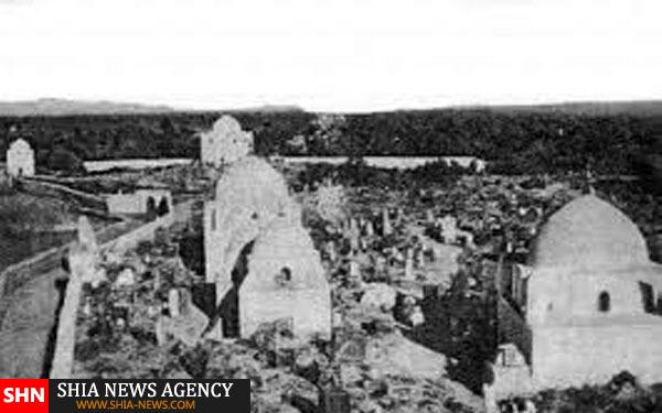 تصویر ویرانی قبور ائمه بقیع (ع)توسط وهابی ها