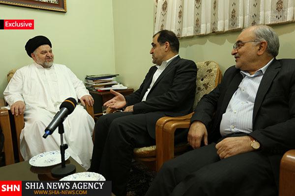 دیدار وزیر بهداشت با نماینده تام الاختیار آیت الله سیستانی