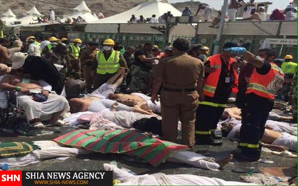 اولین تصاویر از حادثه کشته شدن حجاج در ازدحام جمعیت منا