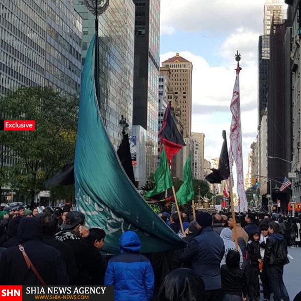 اختصاصی/ برپایی عزای حضرت سیدالشهداء (ع) در خیابانهای نیویورک