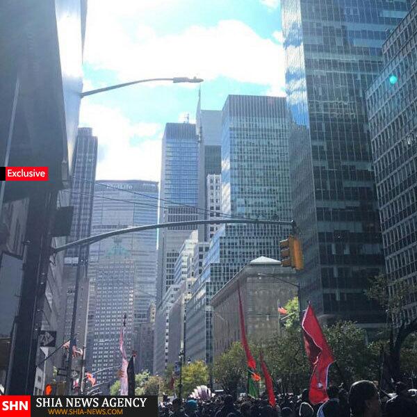 اختصاصی/ پرپایی عزای حضرت سیدالشهداء (ع) در خیابانهای نیویورک