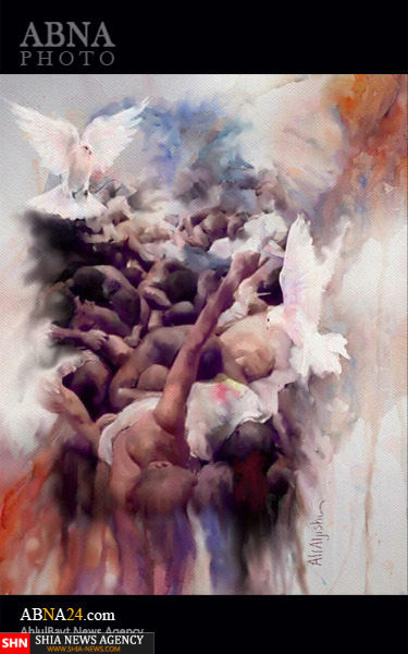 تابلوی زیبای نقاش شیعه سعودی از فاجعه منا + تصاویر