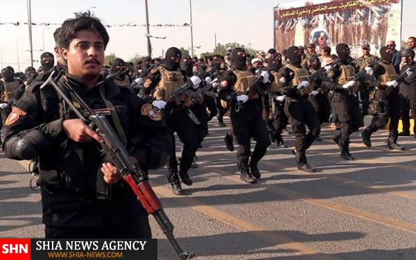 تصاویر رژه نیروهای بسیج مردمی عراق در بصره