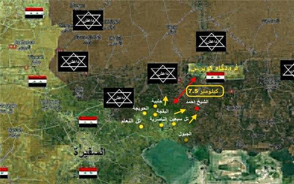 داعش در لاک دفاعی و محاصره + نقشه
