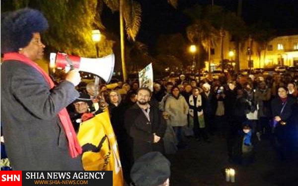 راهپیمایی همبستگی با مسلمانان در کالیفرنیا+ تصویر