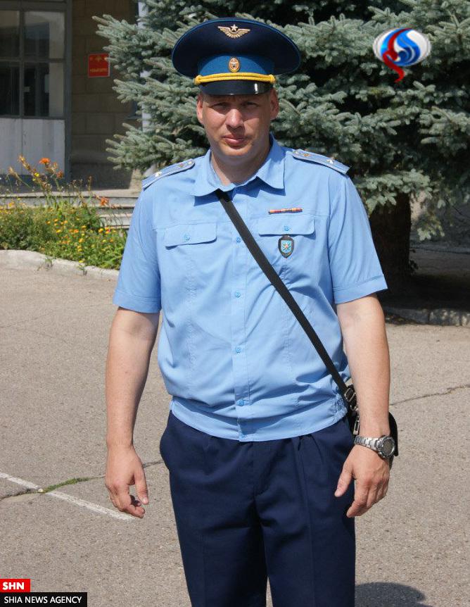 تصویری از خلبان روس که در حمله ترکیه کشته شد