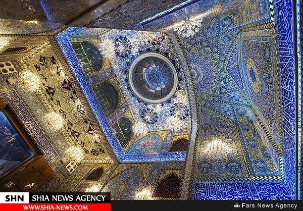 دلبری از زائران در حرم مطهر امام حسین (ع) با نقوش اسلیمی ایران+ تصاویر