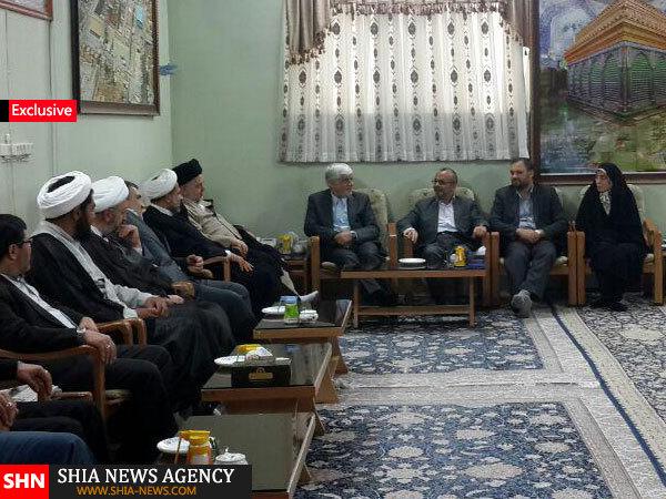 دیدار جمعی از منتخبین مردم در مجلس شورای اسلامی با نماینده آیت الله سیستانی + تصاویر