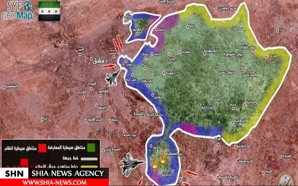 کدام گروههای تروریستی در حومه دمشق مستقر هستند؟ + نقشه