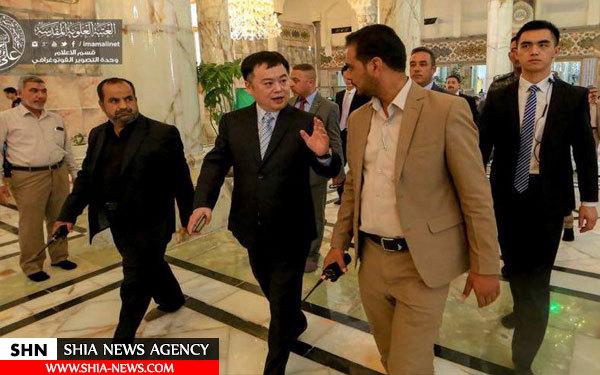 سفیر چین در حرم علوی + تصاویر