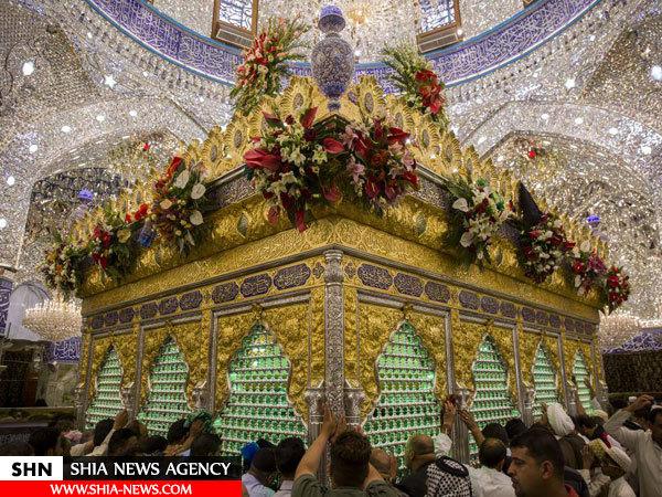 تزیین و گل آرایی حرم حضرت عباس(ع) در ماه شعبان