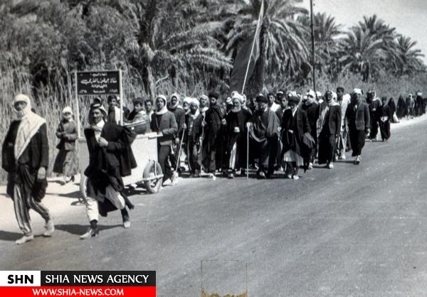 تصاویر قدیمی از حضور علما در پیادهروی کربلا