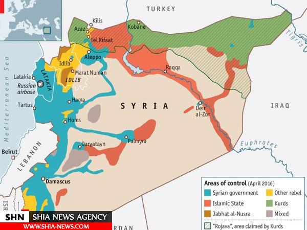 گروههای مسلح مستقر در سوریه را بشناسید + نقشه