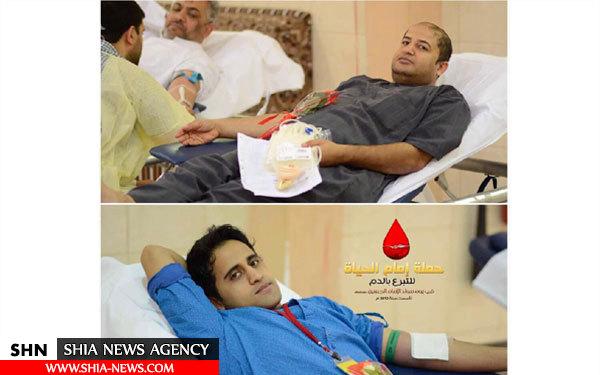 تصاویر اهدای خون به مناسبت ولادت امام حسین(ع) در قطیف
