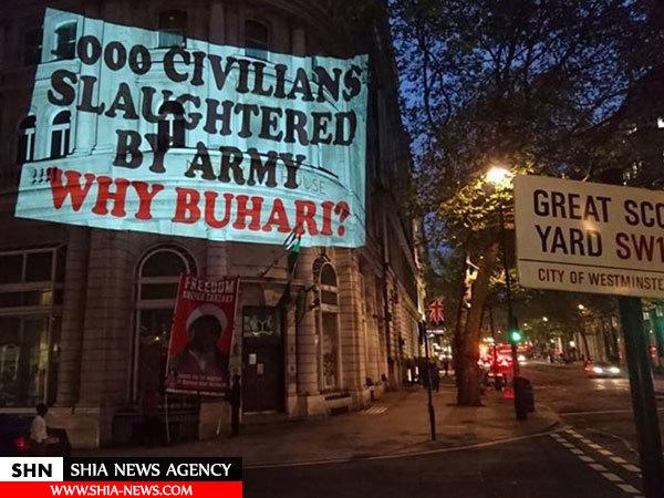 تظاهرات شهروندان لندن در حمایت از شیخ زکزاکی+ تصاویر