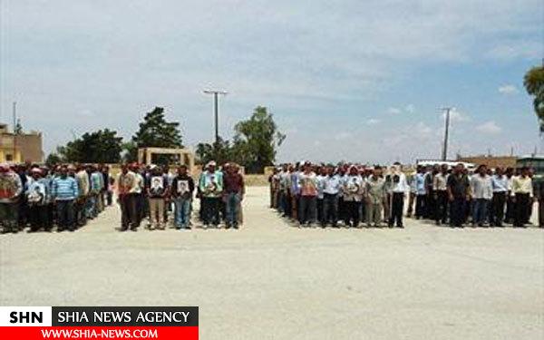 تصاویر پیوستن مبارزان به ارتش سوریه در حسکه