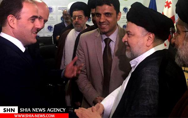دیدار شهردار تفلیس با نماینده آیت الله العظمی سیستانی