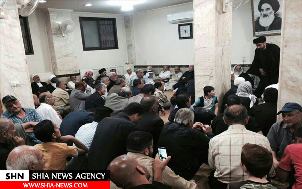 تصاویر  عزاداری حضرت زینب(س) در دفتر آیت الله سیستانی در دمشق