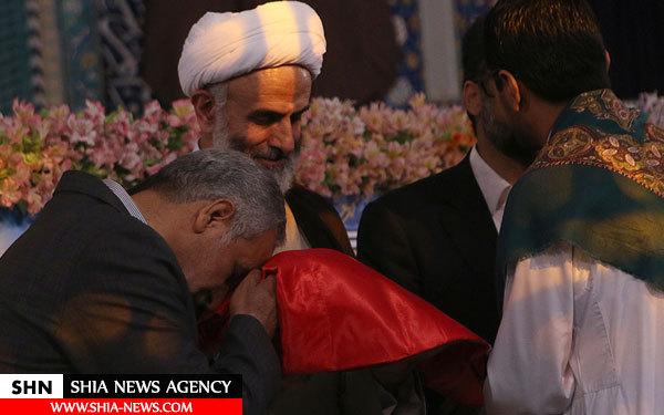 اهدای مصحف و پرچم حرم حضرت عباس(ع) به مسابقات قرآن ایران