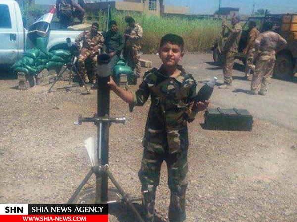 تصویر کوچکترین رزمنده حاضر در فلوجه عراق